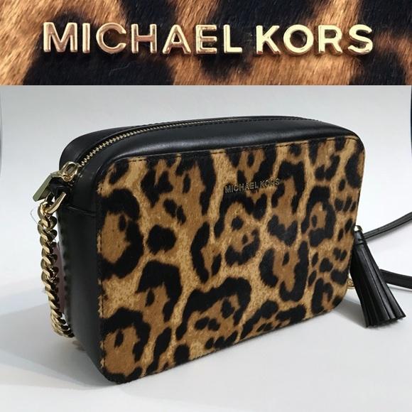 580ef55be8fc Shoptagr   Michael Kors Leopard Print Fur Mini Crossbody Bag Nwt by ...